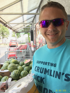 Volunteering- Collecting for CMRF - I managed to up-sell to include sales of 5 watermelons !