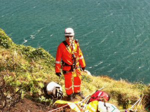 Irish Coast Guard - Setting up on Bray Head 2