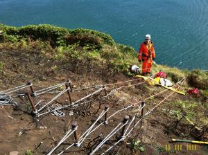 Irish Coast Guard - Setting up on Bray Head